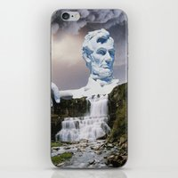 lincoln iPhone & iPod Skins featuring Lincoln 2079 by John Turck