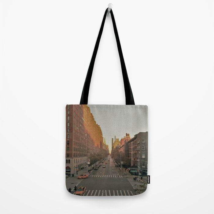 The Yellow Muted City (Color) Tote Bag