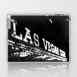 Vintage Las Vegas Sign - Black and White Photography Laptop & iPad Skin