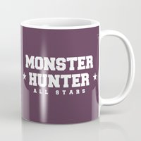 monster hunter Mugs featuring Monster Hunter All Stars - Schrade Legends by Bleached ink