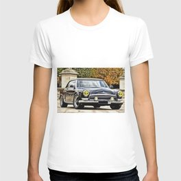 Vintage 1956 Russian Volga Coupe Painting T-shirt