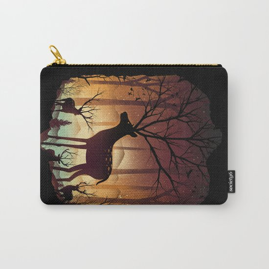 Into Deer Woods Carry-All Pouch
