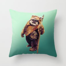 Jittery Little Thing (Ewok) Throw Pillow