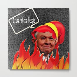 THE KEEBLER DEVIL Metal Print
