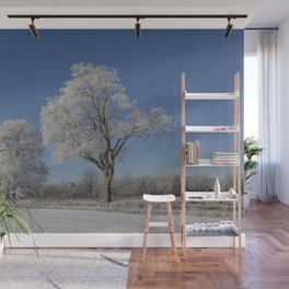 Winterly Landscape In Rural Northern Germany Wall Mural