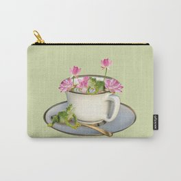 Cup with Lotos Flowers and two Frogs Carry-All Pouch