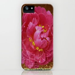 Vintage Grundy Pink Peony Antique Photo iPhone Case