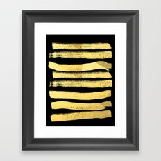 Sochie - black gold minimal black and white modern retro bold dramatic cell phone iphone case trendy Framed Art Print
