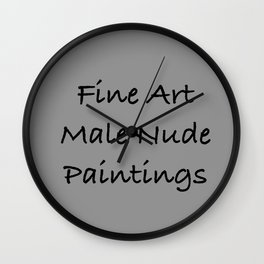 Cover For Male Paintings Wall Clock