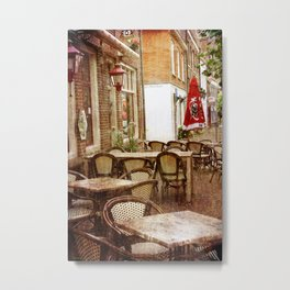 Sunday morning in the town Metal Print