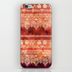 Retro . Vintage lace on a red background . iPhone & iPod Skin