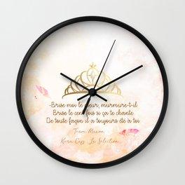 LA SELECTION . KIERA CASS Wall Clock