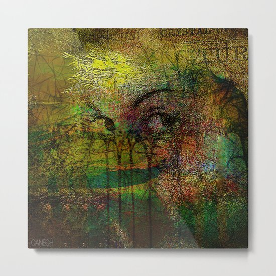 Abstract face Metal Print