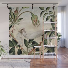 """""""A Fairy Resting in a Hammock"""" by Amelia Jane Murray Wall Mural"""