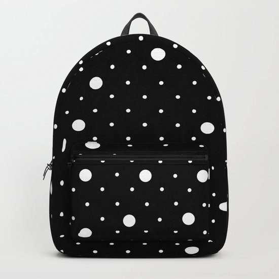 Pin Point Polka Dots White on Black by projectm