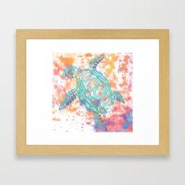 Turtle Pink Framed Art Print