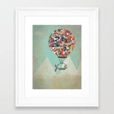 a little adventure Framed Art Print
