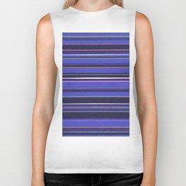 Blue-Purple Striped Pattern Biker Tank