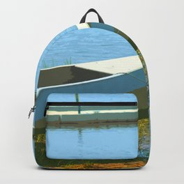 The Boat is Here Painting Backpack
