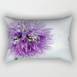 chives bloom Rectangular Pillow