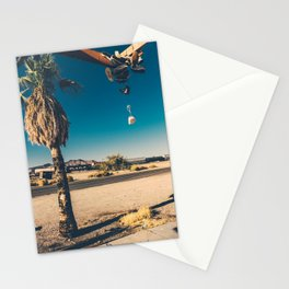 Abandoned gass station in Rice Stationery Cards