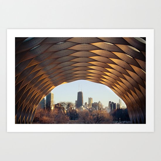 People's Gas Pavilion in Chicago's Lincoln Park Art Print