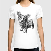 corgi T-shirts featuring Corgi Puppy by BIOWORKZ