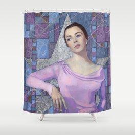 Elizabeth Taylor, Old Hollywood Shower Curtain