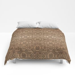Chinese Pattern Double Happiness Symbol on Wood Comforters