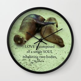 Love soul Aristotle quote Wall Clock