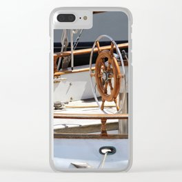 Boat's Wheel Clear iPhone Case