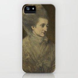 Circle of Sir Joshua Reynolds, P.R.A. PORTRAIT OF LADY HENRIETTA WYNN iPhone Case