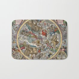 Keller's Harmonia Macrocosmica II 1661 Bath Mat
