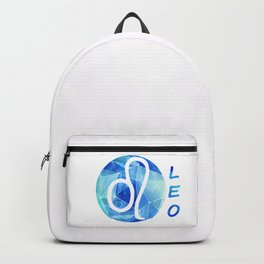 Leo. lion. Sign of the zodiac. Backpack