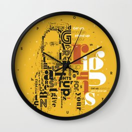Marley get up stand up for your rights Wall Clock