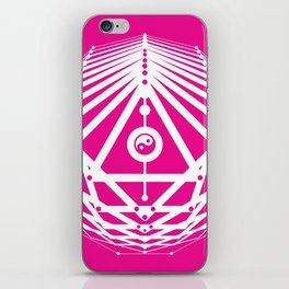 Radiant Abundance (hot pink-white) iPhone Skin