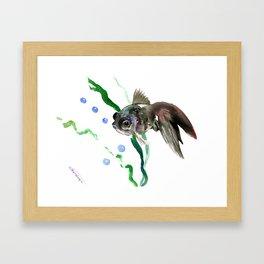 Fish, Aquarium Fish, cute fish design children room Framed Art Print