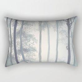 Frozen Fog in the Forest Rectangular Pillow