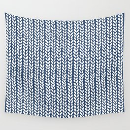 Knit Wave Navy Wall Tapestry