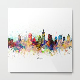 atlanta skyline artistic Metal Print