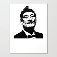bill murray Canvas Prints featuring Bill Murray by Spyck