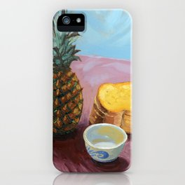 Pineapple in paint iPhone Case