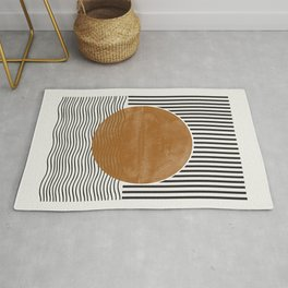 Abstract Modern Poster Rug