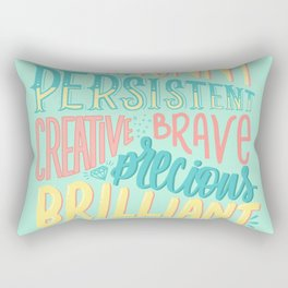 Kind words only Rectangular Pillow