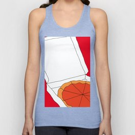 Hot Pizza Box Unisex Tank Top
