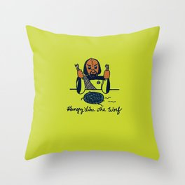 Hungry Like The Worf Throw Pillow