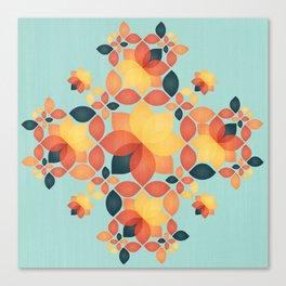 Orange Garden Pattern Canvas Print