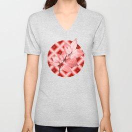 Pink Op Art Autumn Unisex V-Neck