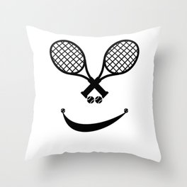 Awesome Tennis gift for happy tennis players | Tennis makes me happy Throw Pillow