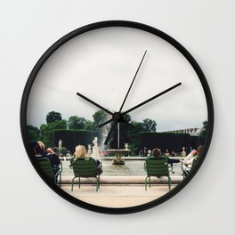 Fountain at Jardin de Tuileries, Paris, France Wall Clock